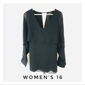 City Chic Women's Size 16 Black Top Blouse Shirt